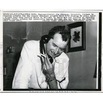 1958 Press Photo Arkansas Segregationist Jim Johnson Hears Election Returns