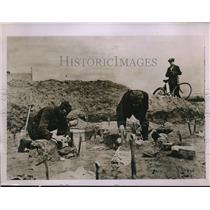 1928 Press Photo Example of a Bronze Age cemetery excavated at Schenkenberg