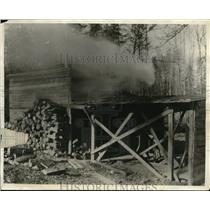 1930 Press Photo Waller gold mine near Tabscott, Va