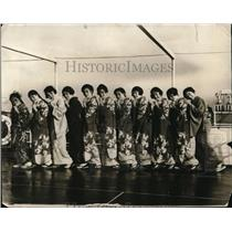 1924 Press Photo Japanese women in traditional kimonos