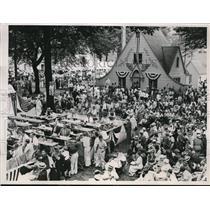 1936 Press Photo Scene Of Intense Activity At Landon Rally - nes16301