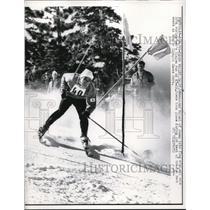 1960 Press Photo Masayoshi Mitani during the Winter Olympic Games - nes15776