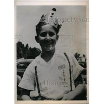 1940 Press Photo jack vaughn wins 35 out of 40 in marbles tournament.