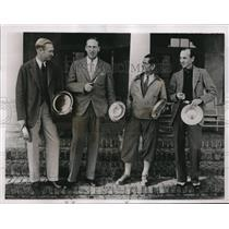1935 Press Photo F.H. Gouverneaur, R.P. Davidson, F.I. Keating Winthrop Williams