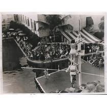 1935 Press Photo World Famous Flying Wallendas at The Miami Biltmore Club