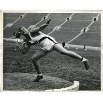 1939 Press Photo LA, Calif Stan Anderson Stanfor Univ shot putter - nes16722
