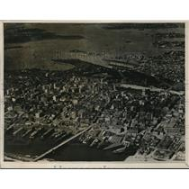 1928 Press Photo Aerial View of Sydney, Australia Showing Port and Harbor