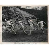 1939 Press Photo Wesley Wallace, Frank Slater, geo Leary, Ralph Pierre in relay