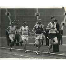 1938 Press Photo Glenn Cunningham, Johnny Wall, Ross Bush, Gene Venzke