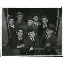 1941 Press Photo LA, Calif Phila A's Al Brandato, BEn McCoy,Dave Keene