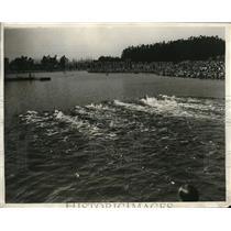 1930 Press Photo Long Beach Calif AAU Outdoor Swim & Dive Championships
