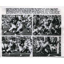 1958 Press Photo Rams Tom Wilson vs Bears Bill Roehneit for touchdown