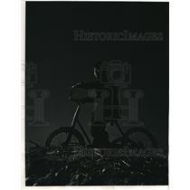 1941 Press Photo Charles Berman age 3 on bike in Brooklyn NY