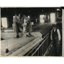 1929 Photo Paul Dudley Helping to Build His Hydro Glider Quincy MA