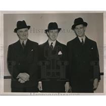 1938 Press Photo A. C. Critchley, P. B. Lucas, J. G. Critchley, sports promoters