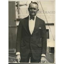 1931 Press Photo Johannes Mahlhorn as he arrives at Los Angeles Harbor