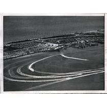 1953 Press Photo Miami Beach, Fla Intnl Grand Prix Regatta race in air view