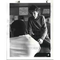 1985 Press Photo Rebecca DeVananzio, director of Safe Space Station 12321 Euclid