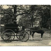 1924 Press Photo Gordon Grayson, Son Of Admiral Cary Grayson, Riding In His Cart