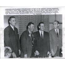 1961 Press Photo Fred Taylor Jack Gardner Ed Jucker Jack Ramsay press conferene