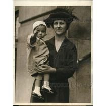 1923 Press Photo Marie Dahl & Daughter, Maria, Held Prisoner by Lover in Mexico