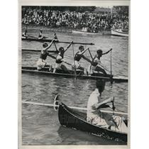 1934 Press Photo Canoes & Sculls in a race in Melbourne Australia - nes21072