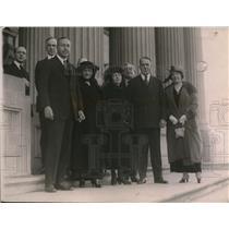 1920 Press Photo Mrs. Muriel McSweeney & Miss Mary McSwinney Visit Washington