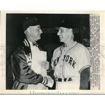 1948 Press Photo Brooklyn NY Giants Leo Durocher & Dodger Burt Shotton