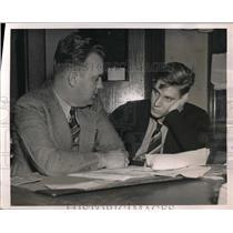 1937 Press Photo Bill De Corremont Austin High School Chicago Football