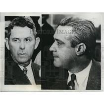 1933 Press Photo Federal agent JC White & suspect George Kelly in Okla,