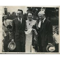 1933 Press Photo Judge H.F. McElroy, Kidnapped Daughter Mary, Brother Henry