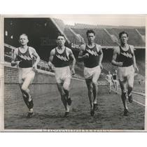 1939 Press Photo Doyle Chirsman, Harvey Bryant, Wayne Rideout and Blaine Rideout