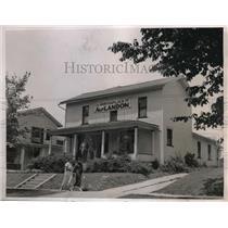 1936 Press Photo Birthplace Pennsylvania Governor Alfred M. Landon, Main Street