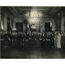 1922 Photo Warren G Harding and Foreign Delegation On Way to Legion Conf