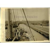 1923 Vintage Photo USS Henderson Approaching Gatun Lock on Panama Canal