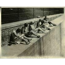1930 Photo Girl Students Smith College Taking Sun Bath Between Classes
