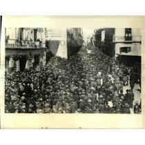 1932 Press Photo Citizens of La Paz Hold Demo Against Neighboring Paraguay