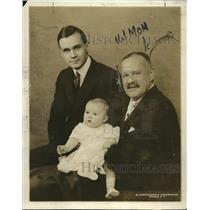 1919 Press Photo George Jay Gould Sr son George Jr & George III