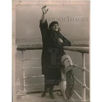 1919 Press Photo Laura Nemeth American Opera Singer in the Scala Opera House