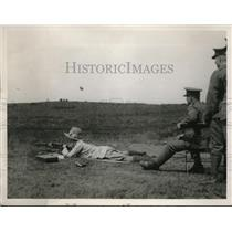 1926 Press Photo Lady Shooting at 1000 Yards Range, Eisley Great Rifle Meeting