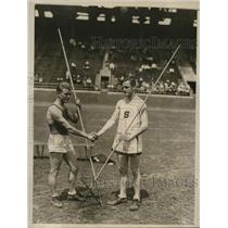 1929 Press Photo AAAA meet at Philadelphia Curtice & Kibby in javelin