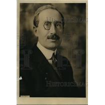 1922 Press Photo Baron Romano Avezzano former Italian Amb to the US