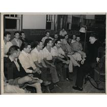 1941 Press Photo Brig.-Gen. Lewis B. Hershey with conscientious objectors
