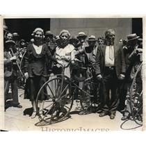 1931 Press Photo Veterans Wheelmen Ride For Last Time In Philadelphia