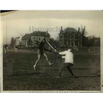 1928 Press Photo Stevens Tech vs NYU at lacrosse match