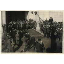 1921 Press Photo Union Station Wash DC Armando Diaz Adm Beatty, Gen Jacques