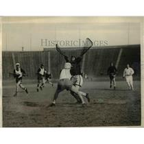 1925 Press Photo Cornell vs Penn at lacrosse match in Philadelphia Pa