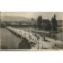 1919 Press Photo Le Port du Mont. Blanc et E'ile Jean-Jacques Rousseau in