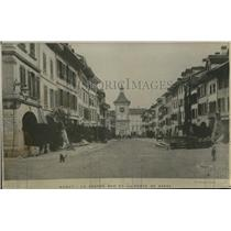 1919 Press Photo La Grande Rue et la Porte de Berne in Berne City, Switzerland
