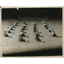 1926 Vintage Press Photo Tots Exercise Class Municipal Gym Boston, MA